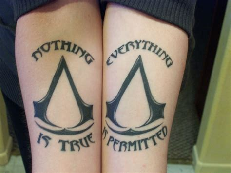 assassin tattoo assassins creed