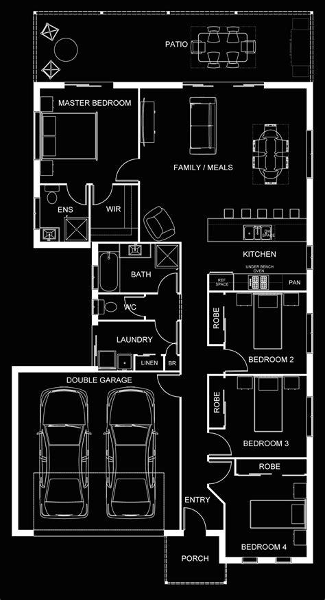 white floor plan 3d gallery budde design brisbane perth melbourne