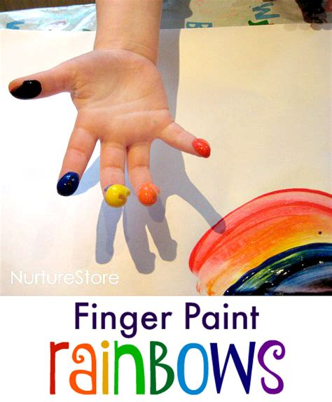 painting crafts rainbow finger painting for st s day nurturestore