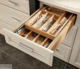 Kitchen Cabinet And Drawer Organizers Kraftmaid Wood Tiered Drawer Storage Transitional Kitchen Drawer Organizers Detroit By