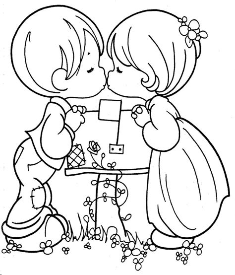 cute couples kissing coloring pages coloring pages