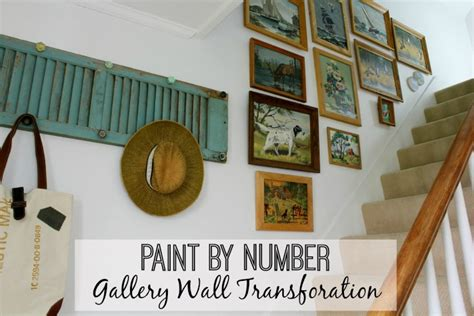 paint by number gallery wall transformation