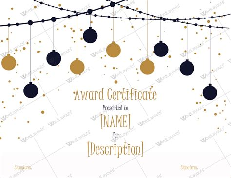 Christmas Themed Award Certificate Templates Download In Word Pdf Themed Word Template