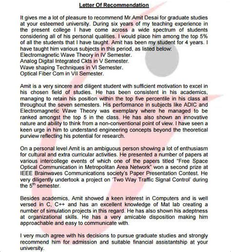 Mba And Ms Computer Science by 55 Recommendation Letter Template Free Word Pdf Formats