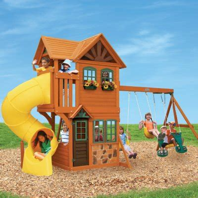 Set Shown Kid swing sets outdoor playsets for sam s club