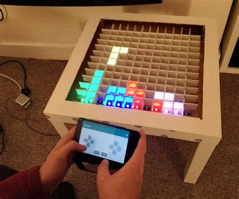 diy bluetooth projects bluetooth controlled arduino led coffee table arduino projects arduino and screens