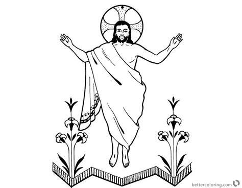 coloring page jesus is risen he is risen coloring pages jesus resurrection clip art