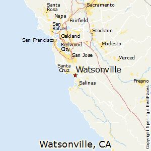 watsonville california map best places to live in watsonville california