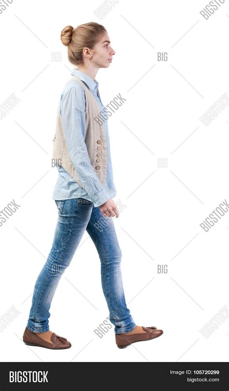 walking sideways side view walking vest image photo bigstock