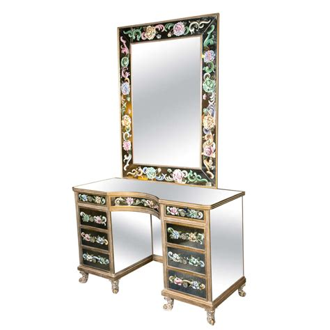 venetian style mirrored vanity dressing table at 1stdibs