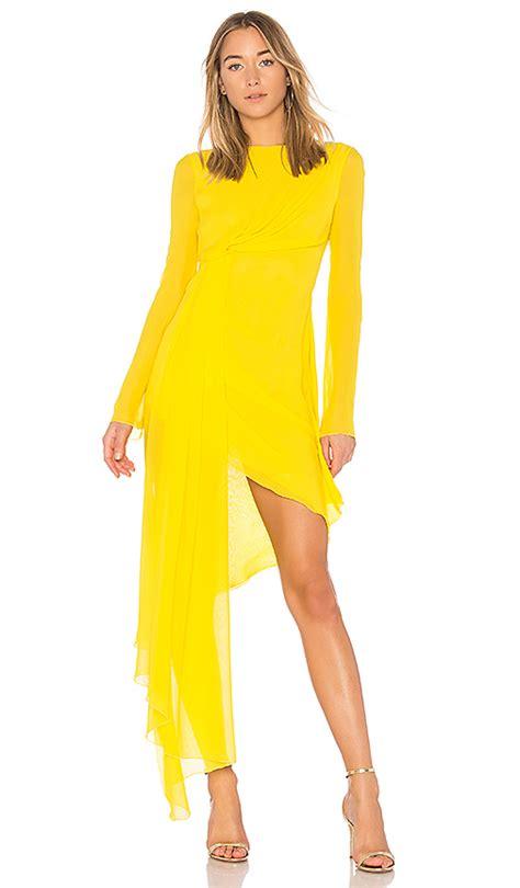 How To Copy Guccis Asymmetrical Yellow Dress For Less by White Asymmetric Dress Yellow Modesens