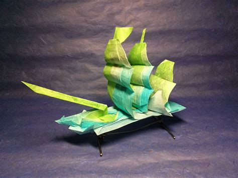 Origami Sailing Ship - this week in origami black friday edition