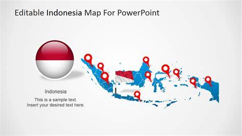 editable indonesia powerpoint map slidemodel
