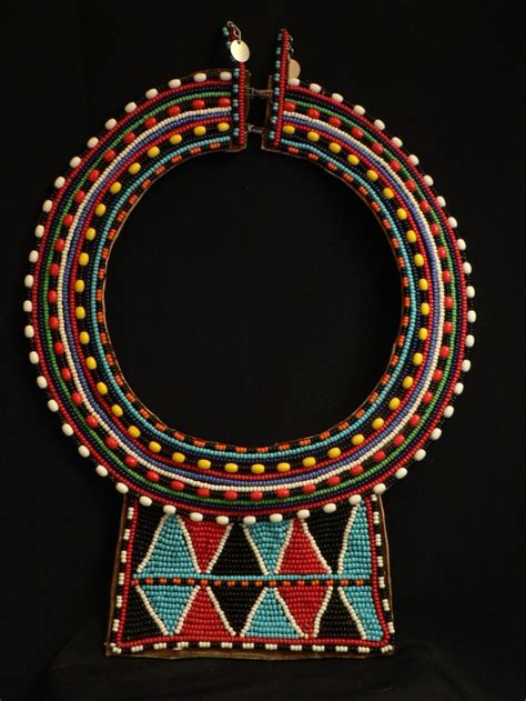 maasai beaded tribal collar necklace kenya maasai