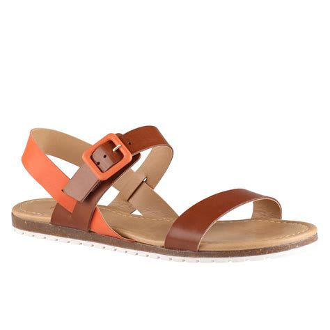 aldo brown sandals aldo roversano flat sandals in brown lyst