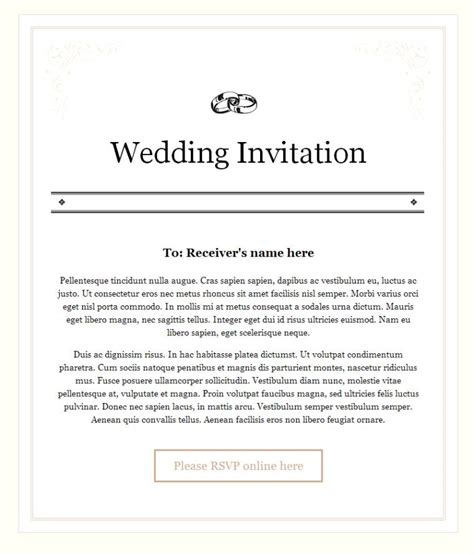 Wedding Invitation Letter By Email Wedding Invitation Email Text For Office Colleagues Wedding Invitation