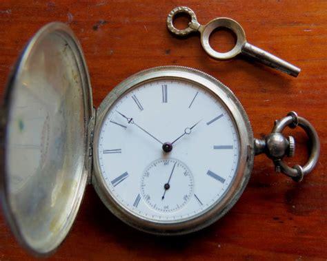 antique gustave reymond silver key wind pocket locle