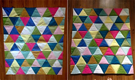 Quilting With Triangles by Triangle Baby Quilt Taylormade