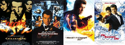 film james bond film james bond how many james bond movies did pierce brosnan do