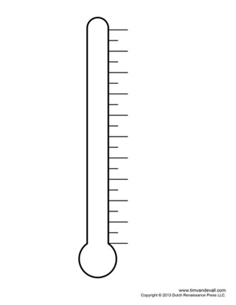 Fundraising Thermometer 04 Tim S Printables Thermometer Goal Template
