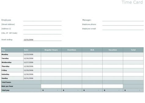 microsoft time card templates time card template excel time card template