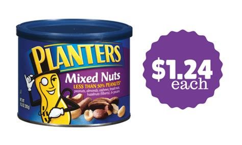 Planters Mixed Nuts Coupon by Planters Mixed Nuts 1 24 Ea At Publix Southern Savers