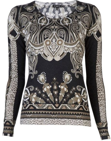 Paisley Pullover Dress Size Sml 1 etro paisley sweater in black lyst