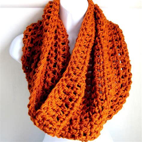 infinity scarf orange pumpkin spice burnt orange fall