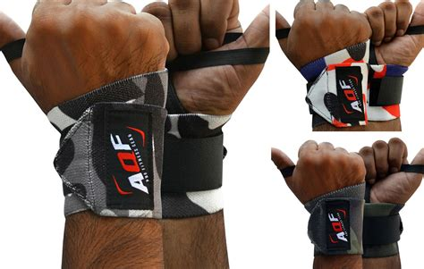 Promo Size L Slim Lift California T3009 2 aqf weight lifting wrist wraps bandage support straps brace cotton camo ebay
