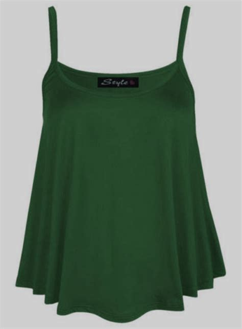 swing vest top new womens plain swing vest sleeveless top strappy cami