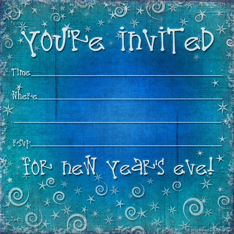New Year Invite Templates Free by Free Printable New Years Invitation Template