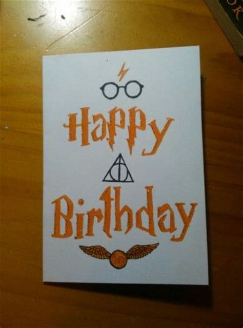 Harry Potter Themed Birthday Cards Harry Potter Birthday Card Cards Pinterest
