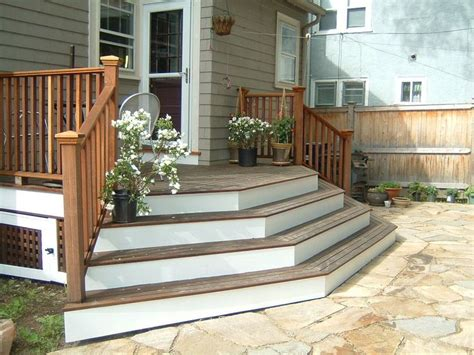 Deck To Patio Transition Pictures Multi Directional Backyard Steps Ideas