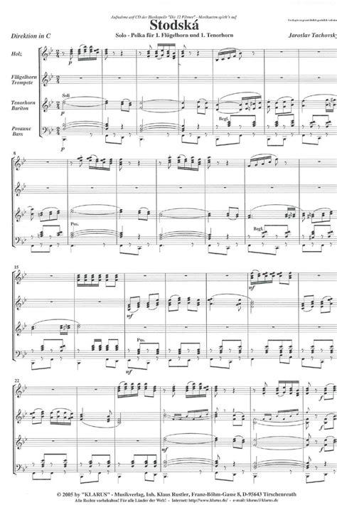 Stodska - Solo 1. Flügelhorn & 1. Tenorhorn | Noten