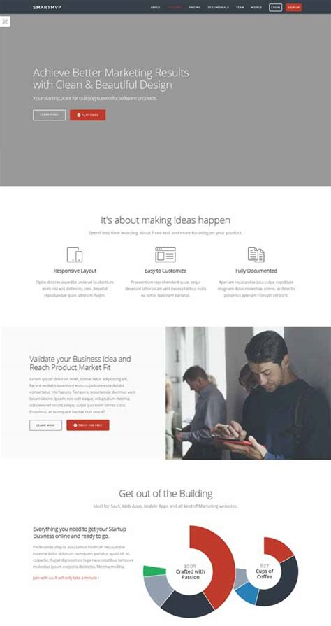 startup landing page template 30 free responsive landing page templates 2015