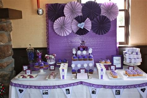 Purple Bridal Shower Decorations by Bridal Wedding Shower Ideas