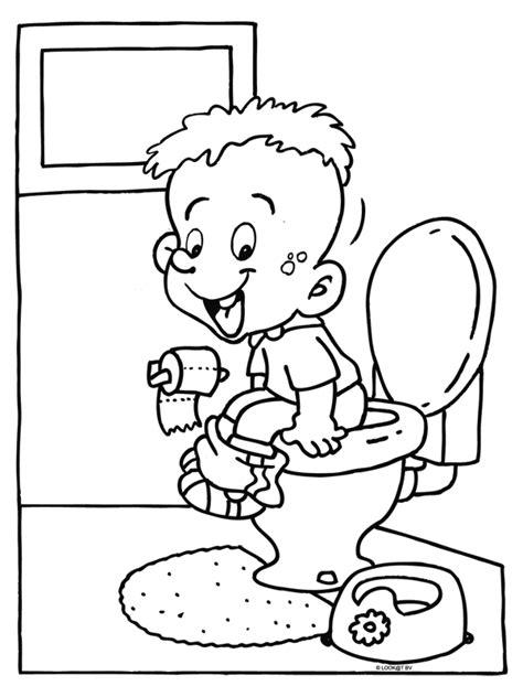 kleurplaat toilet kleurplaat jongetje op de wc kleurplaten nl
