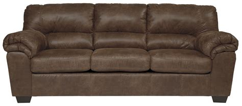 ashley faux leather sofa casual faux leather full sofa sleeper by signature design