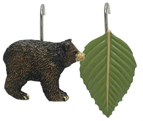 bear shower curtain hooks black bear shower curtain hooks by park designs bear
