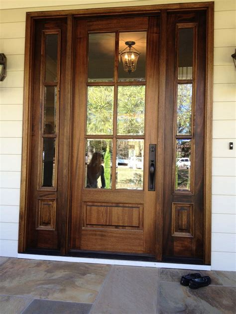 Wood Glass Front Door Our Best Selling Front Door Entrance Unit Model 186 This 6 Lite Door With Beveled Glass Is A