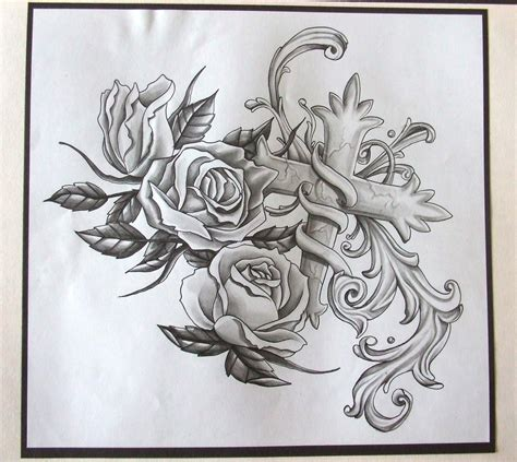 tattoo rose drawings ink sleeve by tuttle