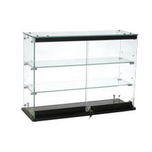 Countertop Showcase by Locking Glass Countertop Showcase Tempered Glass Cases