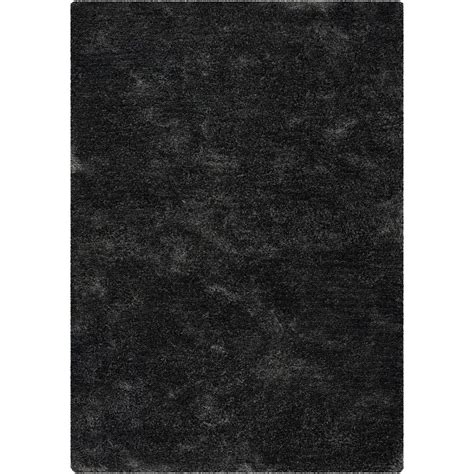 chandra sterling charcoal 5 ft x 7 ft sweet home stores cozy shag collection charcoal grey 7 ft 10 in x 9 ft 10 in indoor area rug