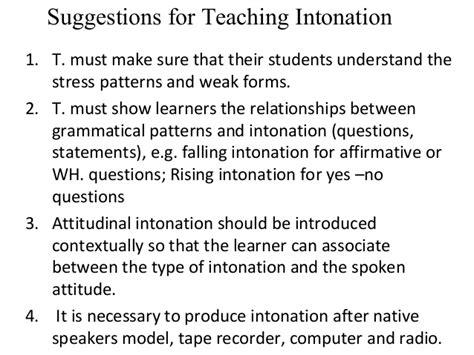intonation pattern with exles teaching intonation pattern