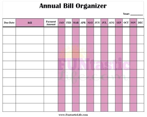 monthly organiser template monthly bill organizer template free printable charts for