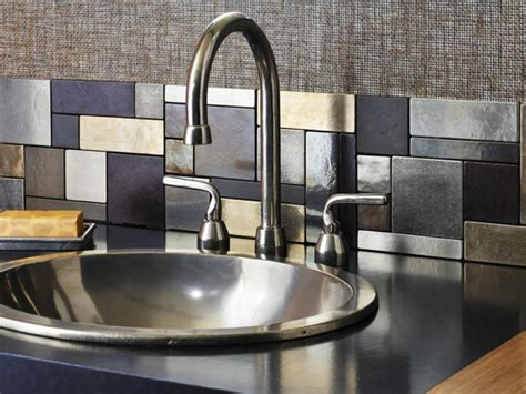 aluminum backsplash metal backsplash ideas hgtv