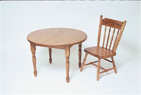 amish made wooden activity table and chairs