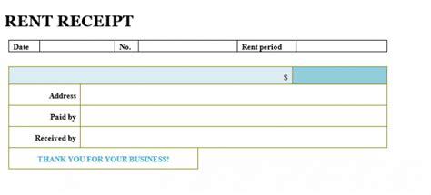 rent receipt template word samples business document