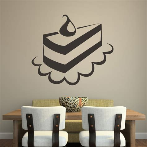 food wall stickers cake slice kitchen food wall stickers wall decals transfers ebay