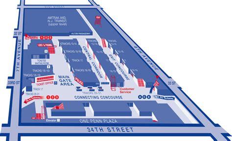 Penn Station Interior Map by Mta Lirr Penn Station Service